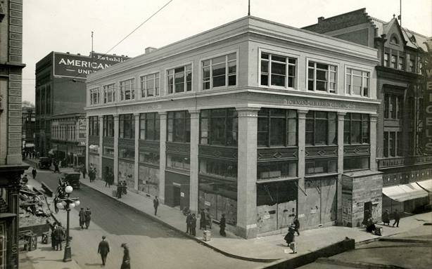 United Dept. Store nearing completion in 1919