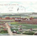 View Of Stock Yards St Joseph Missouri Posted 1909