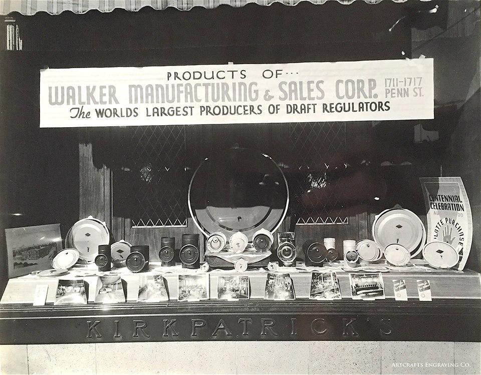 Walker Manufacturing display in Kirkpatrick's Jewelry display window c. 1938