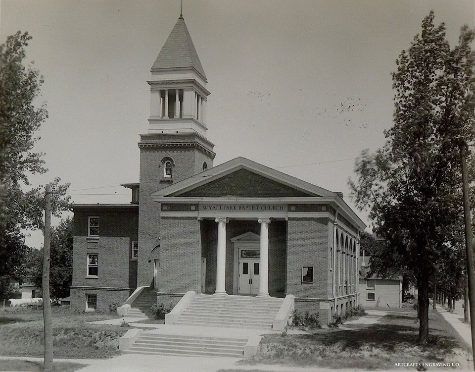 Wyatt Park Baptist Church at 28th and Mitchell. Architect ca 1910.
