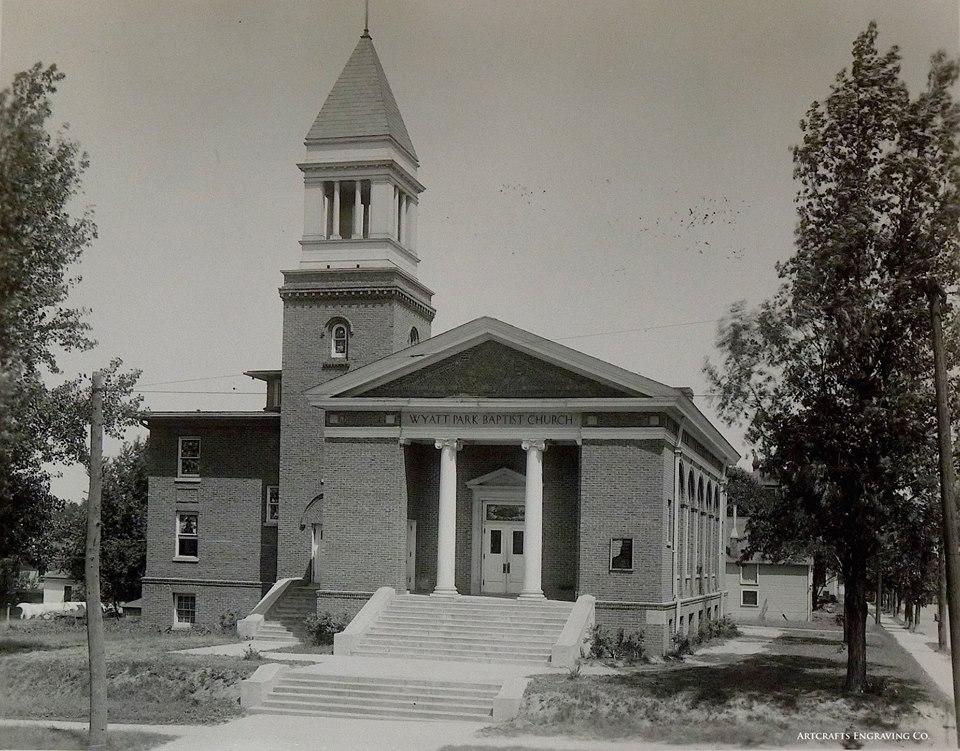 Wyatt Park Baptist Church at 28th and Mitchell. Architect ca 1910.