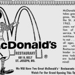 first McDonald Restaurant to come to St Joseph 1