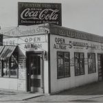 Goetz on Tap. Tenderloins 10 cents310 South 8th. 1935.