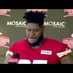 Chiefs rookie offensive lineman Trey Smith talks about starting camp